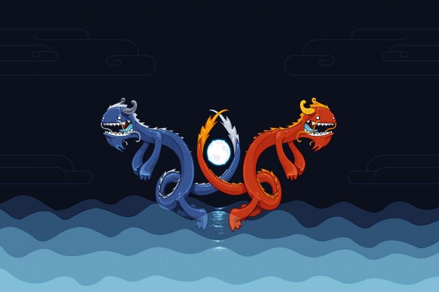 Dragones sobre el agua