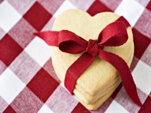 Galletas para regalar en forma de corazón