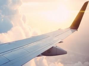Ala del avión en vuelo