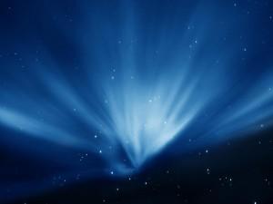 Luz en cielo