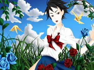 "Saya Otonashi,  personaje de la popular serie de animé ""Blood"""
