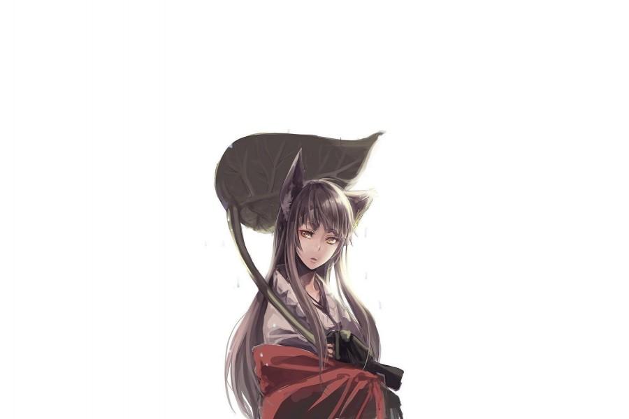 Catgirl en kimono