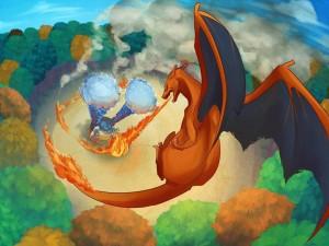 """Blastoise y Charizard, personajes de """"Pokémon"""""""