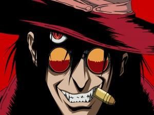 "Alucard, personaje de la popular serie de vampiros ""Hellsing"""