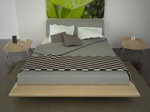 Un dormitorio moderno y sencillo