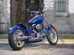Harley-Davidson de color azul