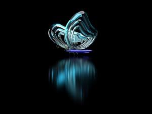 Mariposa reflejada