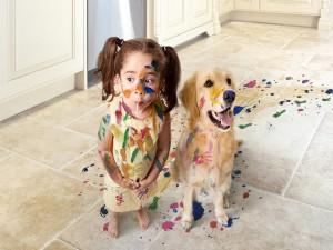 Jugando con pintura
