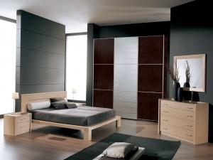 Un bonito dormitorio moderno