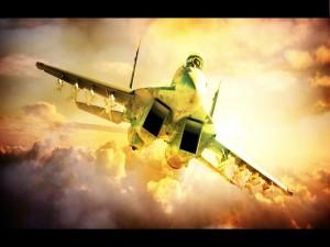 Un F-18 en el aire