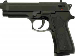 Una pistola negra