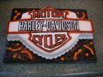 Tarta con el logo de Harley-Davidson