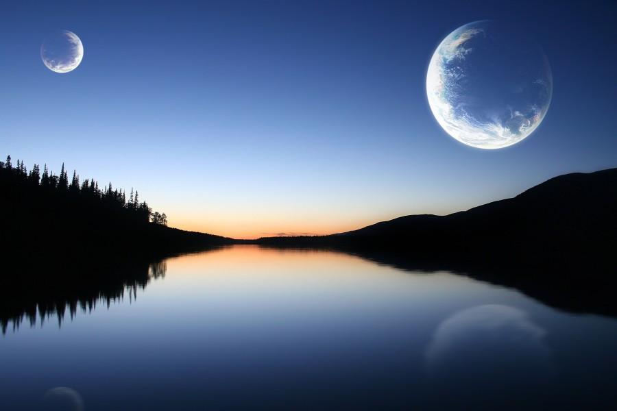 Lunas sobre un río