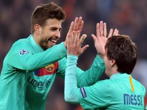 Messi y Piqué en un partido con el Barcelona