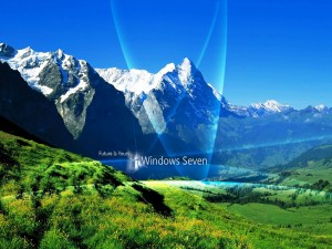 Windows Seven en un bonito paisaje