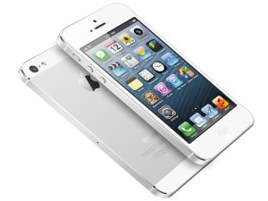 Iphone 5 de color blanco