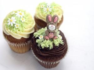 Unos cupcakes primaverales