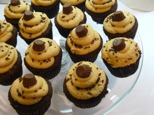 Cupcakes con un bombón
