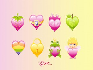 Mundo de corazones y amor