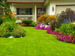 Casa con un espectacular jardín