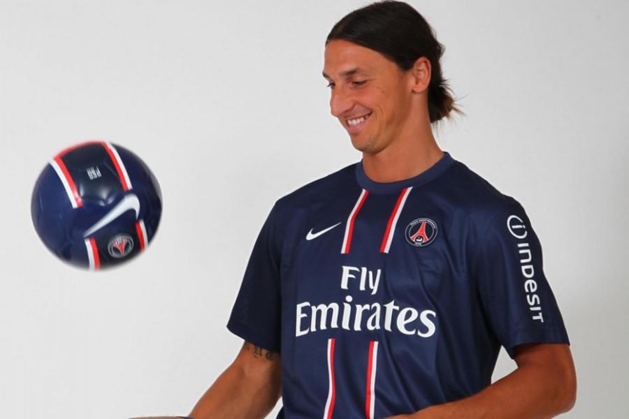 Ibrahimović con la camiseta del París Saint-Germain