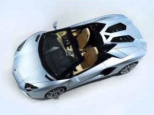 Lamborghini Aventador Roadster Silver