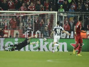 Partido de la Juventus contra el Bayern de Múnich
