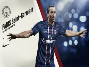 Zlatan Ibrahimović con la camiseta del París Saint-Germain