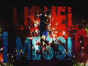 Leo Messi con los colores del Barcelona