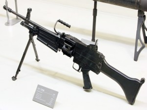 Arma militar en una exposición