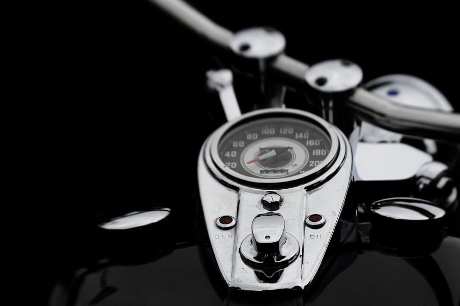 Cuentakilómetros de una Harley-Davidson