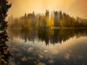 Hermosa vista de otoño