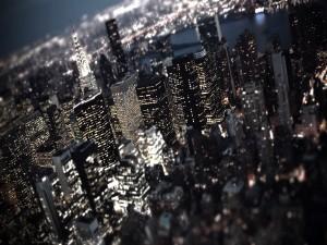 Noche iluminada en Nueva York