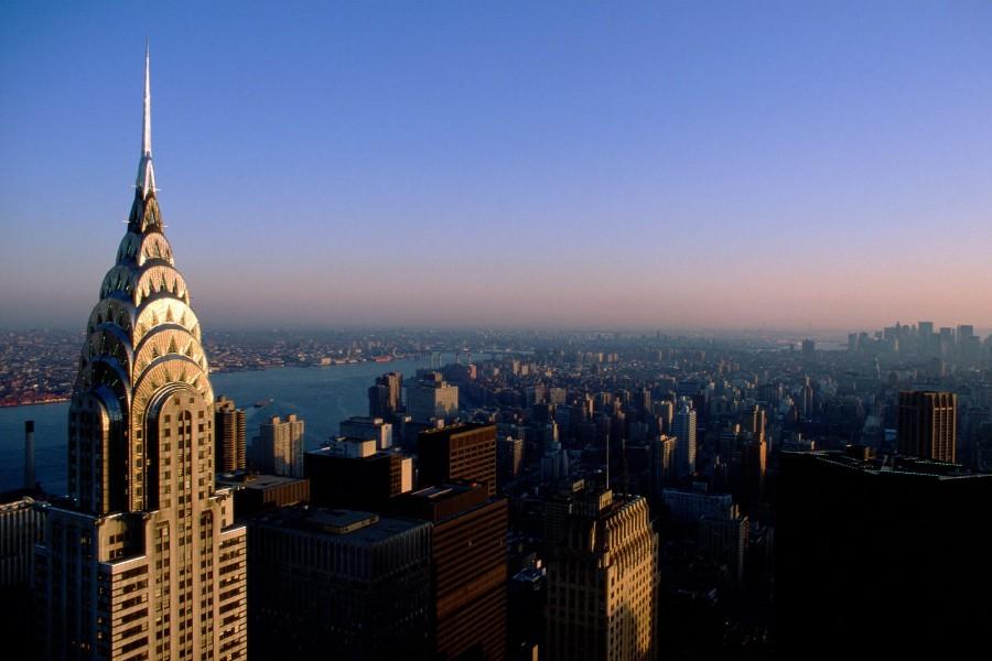 Cielo azul sobre Nueva York