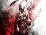 """Arno Dorian sosteniendo su arma """"Assassin's Creed"""""""