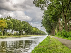 Canal junto a un camino