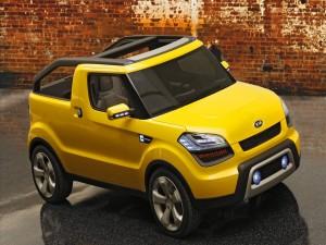 Un bonito Kia amarillo