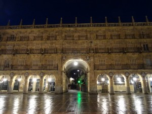 Plaza Mayor de Salamanca en la madrugada