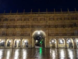Plaza Mayor de Salamanca en la madrugada