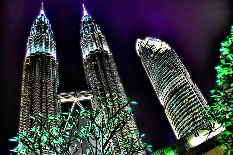 Torres Petronas en la noche