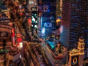 La animada vida nocturna de Las Vegas
