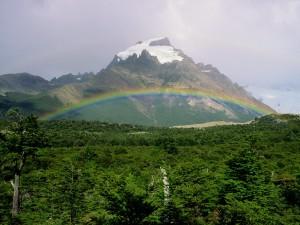 Arcoíris en Cerro Solo (Argentina)