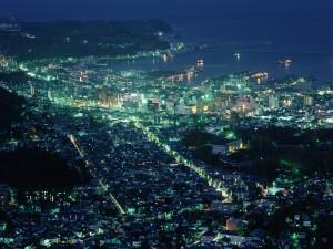 Vista de Hokkaido al anochecer (Japón)