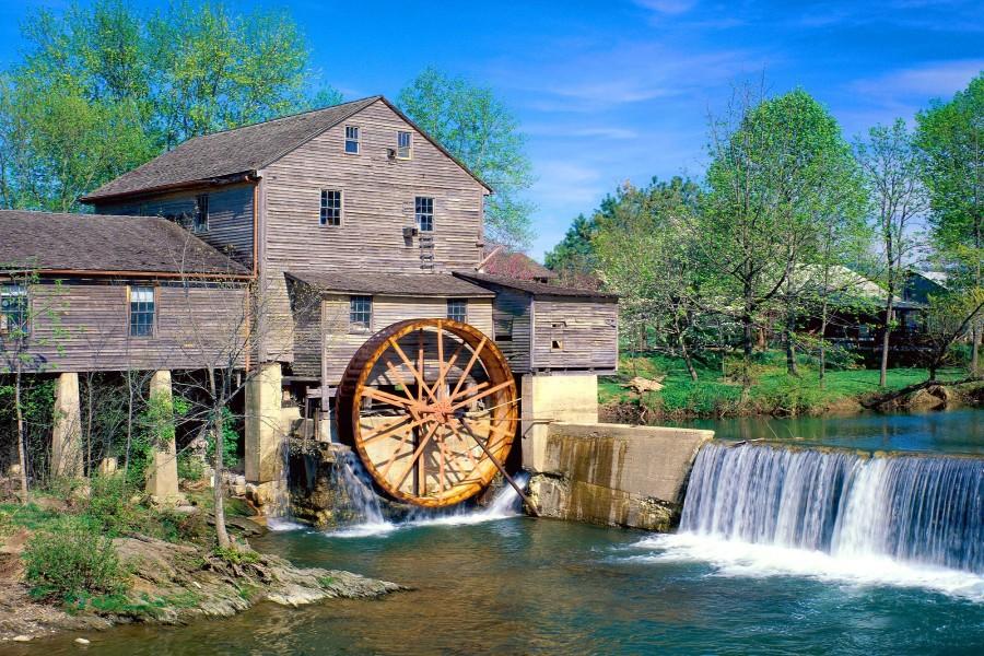 Viejo molino en Tennessee