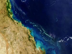 Gran barrera de Corales vista desde el espacio