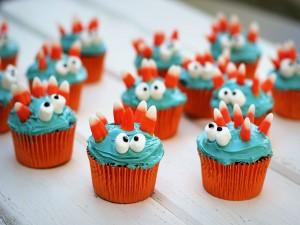 Unos cupcakes monstruosos para Halloween