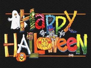 Una simpática felicitación de Halloween