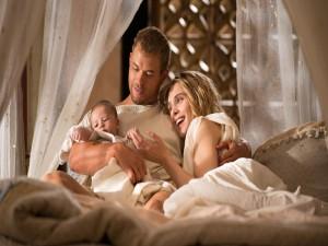 Hércules feliz con su familia