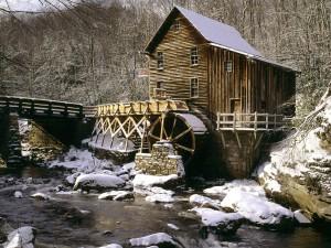 Nieve en el viejo molino