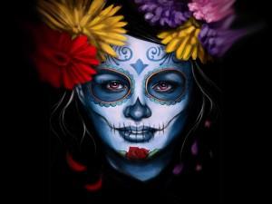 """Mujer en el """"Día de Muertos"""""""